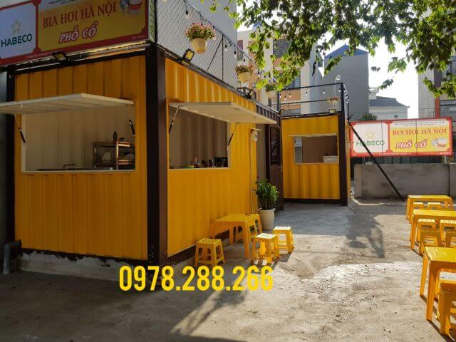 container bán trà chanh