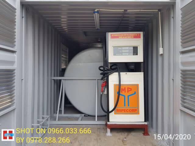 container cột bơm xăng dầu