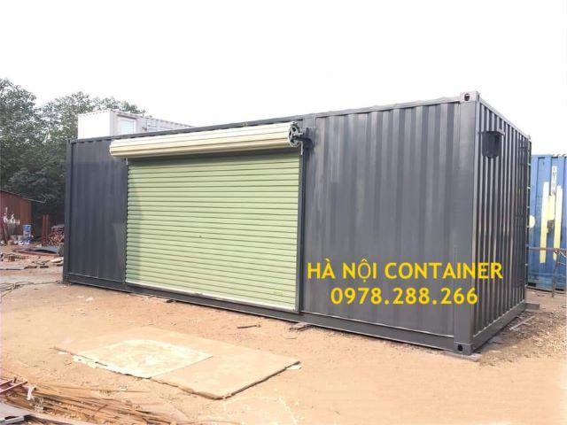 container làm văn phòng lắp cửa cuốn