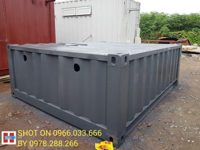 container vệ sinh 10 feet 4 phòng