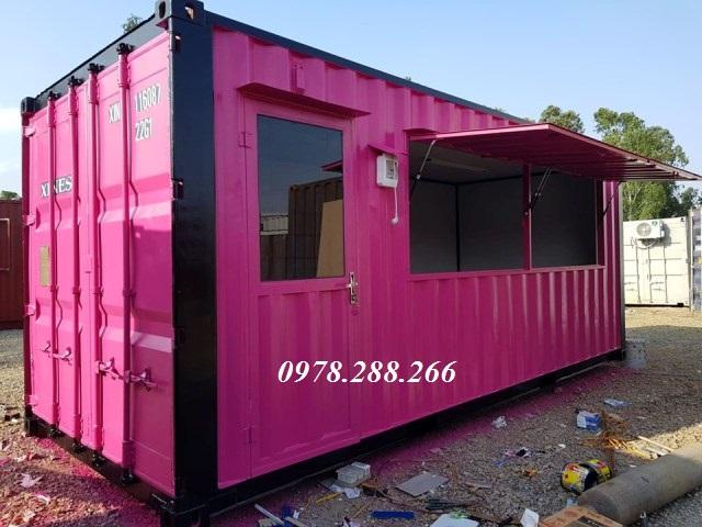 container làm quầy bán hàng