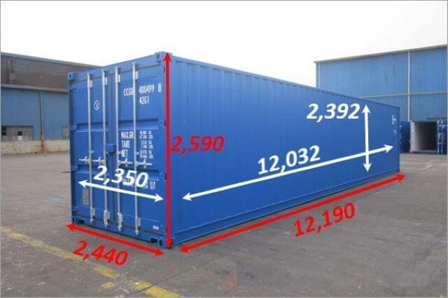 đơn vị đo lường container